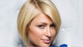 Paris Hilton Face Closeup At Catherine Ledner Photoshoot for ELLE